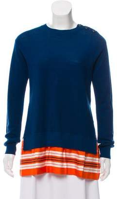 Louis Vuitton Wool Crew Neck Sweater with Silk Panels