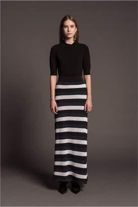 Sonia Rykiel Striped Openwork Knit Maxi Skirt