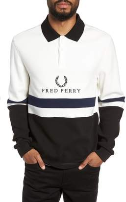 Fred Perry Colorblock Long Sleeve Polo