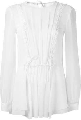 Alberta Ferretti sheer ruffle blouse