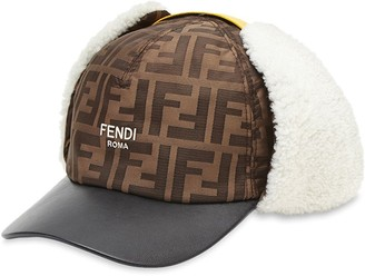 Fendi ear-warmer baseball cap