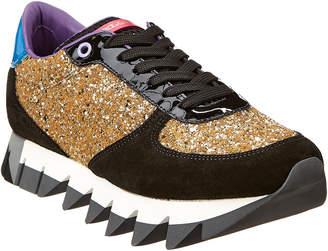 Dolce & Gabbana Capri Suede & Glitter Sneaker