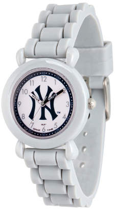 EWatchFactory Gametime Mlb New York Yankees Kids' Gray Plastic Time Teacher Watch