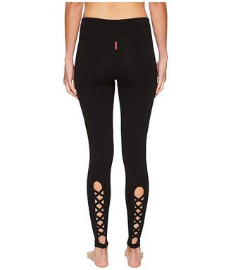 Hard Tail Flat Waist Lace Back Leggings