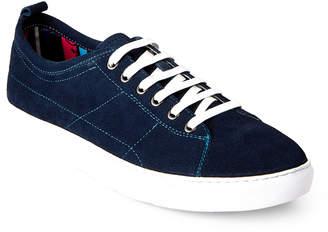 Robert Graham Navy Ernesto Low-Top Sneaker