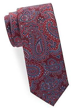 Brioni Men's Paisley Woven Silk Tie