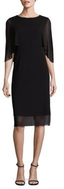 Fuzzi Cape Layer Solid Dress $385 thestylecure.com
