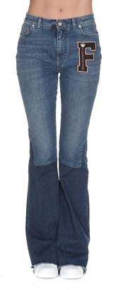 Dolce & Gabbana Cut Out Patch Jeans