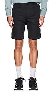 Pt01 Men's Linen-Cotton Bermuda Shorts-Navy