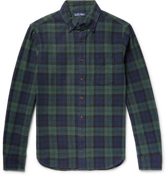 Alex Mill Black Watch Checked Cotton-Flannel Shirt