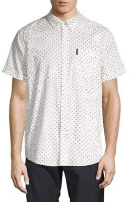 Ben Sherman Polka Dot Cotton Sport Shirt