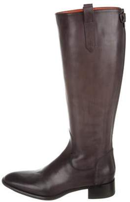 Santoni Pointed-Toe Knee-High Boots Pointed-Toe Knee-High Boots