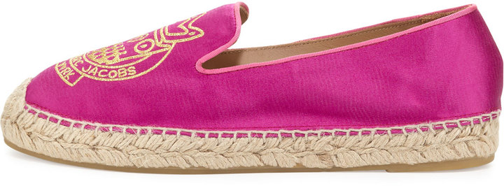 Marc by Marc Jacobs Owl Satin Espadrille Flat, Hot Pink