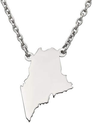 FINE JEWELRY Personalized Sterling Silver Maine Pendant Necklace