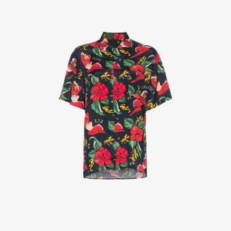 R 13 hawaiian floral print shirt