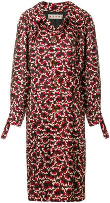 Marni geometric patterned trench coat