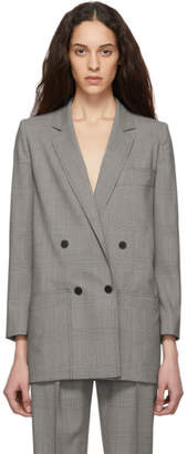 Max Mara Beige and Blue Oxford Blazer
