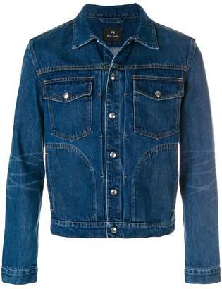 Paul Smith pleated front denim jacket
