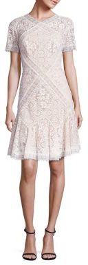 Tadashi Shoji Patchwork Lace Dress $438 thestylecure.com