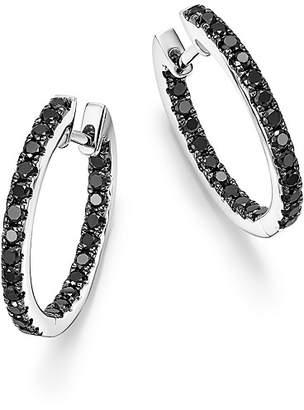 Bloomingdale's Black Diamond Inside Out Hoop Earrings in 14K White Gold, .85 ct. t.w. - 100% Exclusive