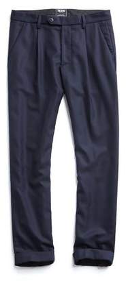 Todd Snyder Made in New York Wool Pleated Trouser in Navy