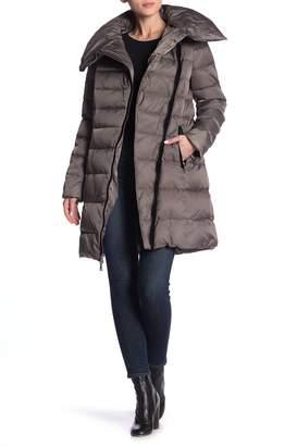 T Tahari Brooklyn Asymmetric Down Coat