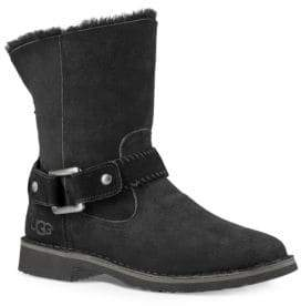 UGG Cedric Fur-Lined Leather Boots