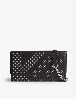 Karl Lagerfeld LARGERFELD x Kaia Rocky leather wallet-on-chain