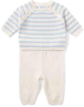 Ralph Lauren Cashmere Intarsia Stripe Top w/ Matching Pants, Size 3-9 Months
