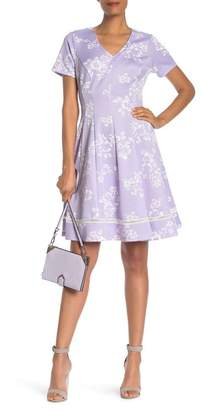 Robbie Bee Floral Fit & Flare Dress