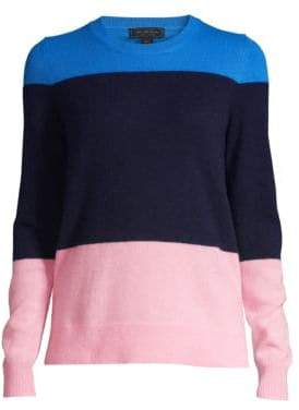 Saks Fifth Avenue COLLECTION Color Block Cashmere Sweater
