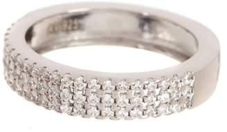 Argentovivo Sterling Silver Pave CZ Anniversary Band Ring