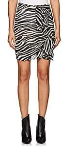 Etoile Isabel Marant Women's Jerine Zebra-Print Chiffon Miniskirt - White