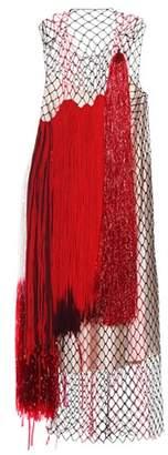 Calvin Klein Layered mesh dress