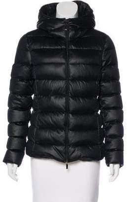 Moncler Hooded Jersey Puffer Coat