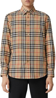 Burberry Chambers Check Button-Up Flannel Shirt