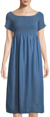 philosophy Smocked Chambray Midi Dress
