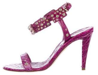 Sergio Rossi Leather Studded Sandals