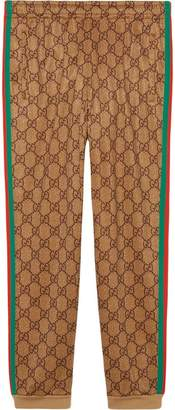 Gucci GG Supreme print cotton blend sweat pants