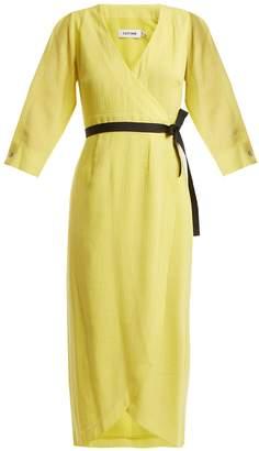 CEFINN V-neck voile wrap dress