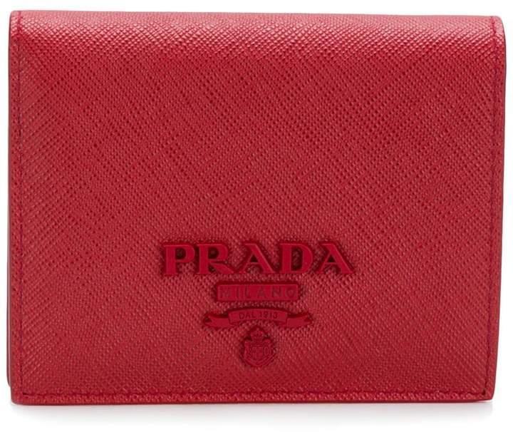 Prada classic logo wallet