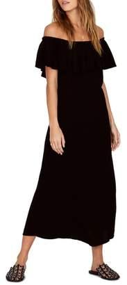 Amuse Society Vista Del Valle Off the Shoulder Ruffle Maxi Dress