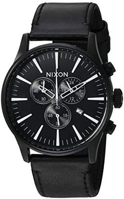 Nixon Men's 'Sentry Chrono Leather' Quartz Stainless Steel Casual Watch