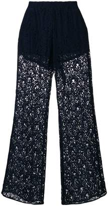 Pinko semi-sheer lace trousers