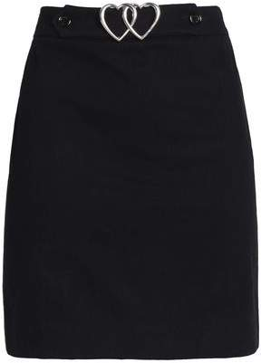 Love Moschino Buckled Cotton-Blend Mini Skirt