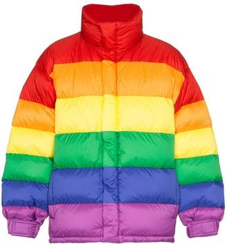 Burberry rainbow feather down puffer jacket