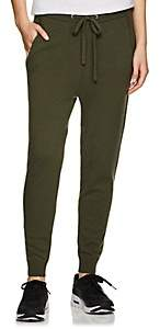 Barneys New York WOMEN'S CASHMERE DRAWSTRING SWEATPANTS-OLIVE SIZE L