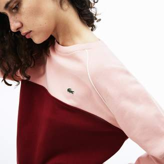 Lacoste Women's Crew Neck Fleece Sweatshirt