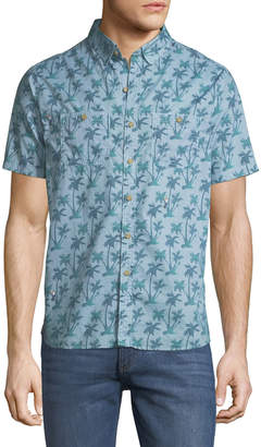 Michael Bastian Palm-Tree Short-Sleeve Sport Shirt