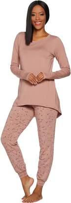 Anybody AnyBody Loungewear Cozy Knit Novelty Print Pajama Set